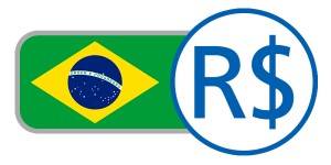 Green yellow blue currency flag world stars buy Brazil real online