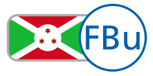 buy currency online flag burundi franc white red green stars cross
