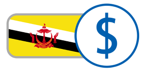 buy currency online flag brunei dollar red yellow black white