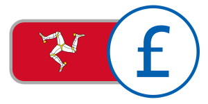 buy currency online flag isle of man red white legs